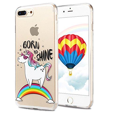 Coque iPhone 7 Plus , Etui iPhone 7 Plus , CaseLover Etui Coque TPU Slim pour iPhone 7 Plus (5.5 pouces) Mode Flexible Souple Soft Case Couverture Housse Protection Anti rayures Mince Transparent Sili Cheval