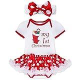 YiZYiF 2tlg. Baby Mädchen Kleid Weihnachten Bekleidung Set Strampler Tütü Bodys