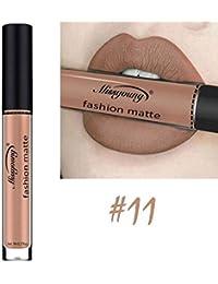 LUFA 18 colores mate Larga duración del lápiz labial líquido antiadherente Copa Lip Gloss Lip manchas de labios Maquillaje Humectante