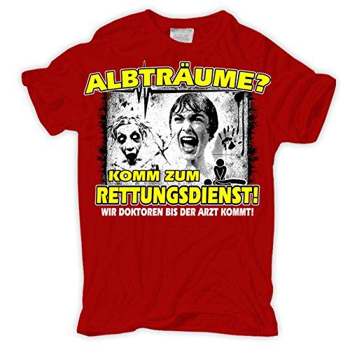 Männer und Herren T-Shirt Albträume?! Komm zum Rettungsdienst Rot