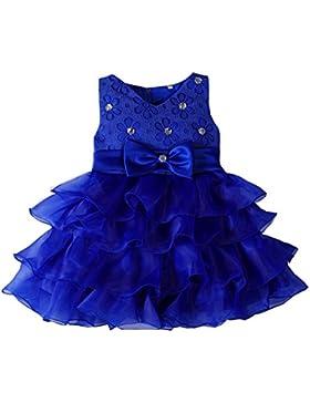 LaoZan Senza Maniche Ragazze Vestito Bambina Ruffles Tulle Tiered Strass Partito Compleanno Principessa Abito...