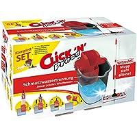 Sprintus 302018 Click 'n' Press Patentiertes Bodenwischset mit einzigartiger Aufrechtfunktion und Hygienepresse