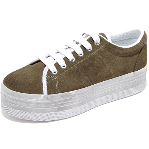 88819 sneaker JEFFREY CAMPBELL EPLAY ZOMG SUEDE WASH scarpa donna shoes women VERDE MILITARE