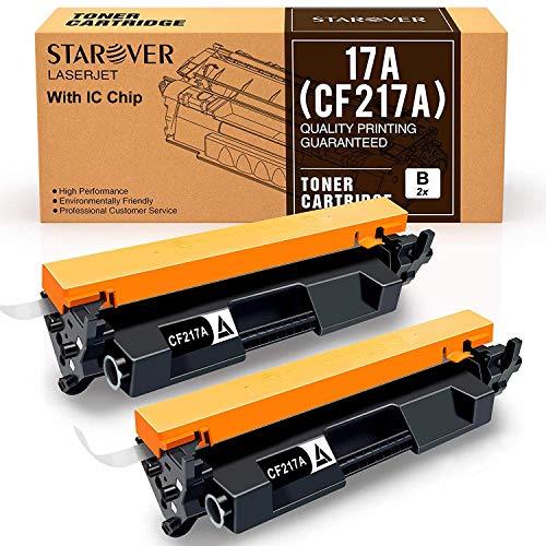 [Con Chip] 2-paquete Para HP 17A CF217A Cartucho De