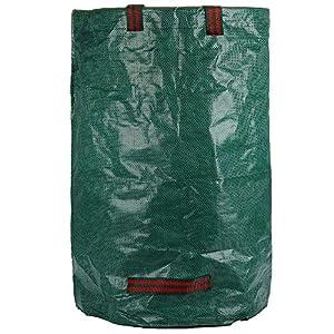 51oF53hhT5L. SS300  - Bolsas para desechos de jardín 3 PCS Saco para residuos Bolsas de Basura de jardín y Saco de jardín Extra Resistente Plegable Bolsas de Jardin Hechas de Tela de Polipropileno(PP)