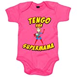 Body bebé Tengo una Supermamá - Rosa, 6-12 meses