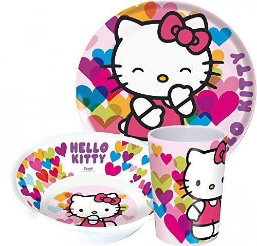 Hello Kitty enfants Service avec assiette, bol et gobelet en mélamine