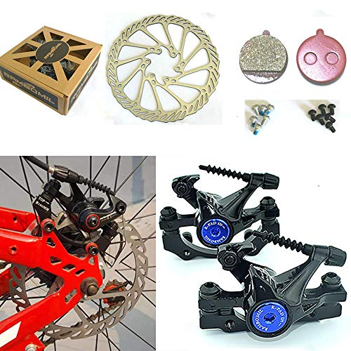 RAMBOMIL Road Mountain Bike Bicycle Cycling Brake Disc F-1 Front Rear Wheel Brake Disc Rotor Kit