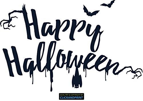 CLICKANDPRINT Aufkleber » Happy Halloween, 180x116,0cm, Metallic Moonlight • Dekoaufkleber / Autoaufkleber / Sticker / Decal / - Moonlight Halloween