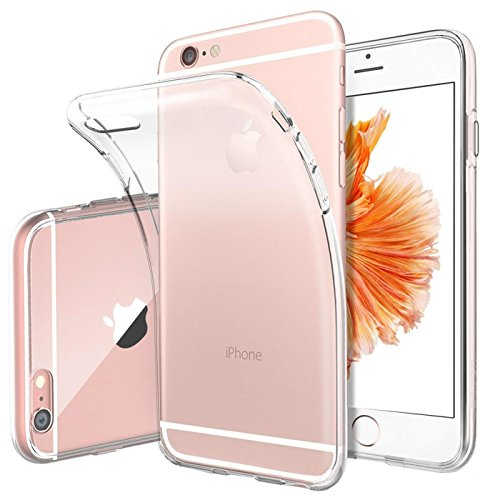 Apple iPhone 6S 6 Hülle Case, Conie Liquid Crystal Ultra Dünn Crystal Clear Transparent Handyhülle Cover Soft Premium-TPU Durchsichtige Schutzhülle Backcover Slimcase für Apple iPhone 6S 6
