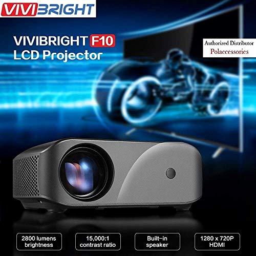 VIVIBRIGHT HD (720p) 2800 Lumen (HDMI/USB/VGA/AV) 300 Inch F10 Black Projector