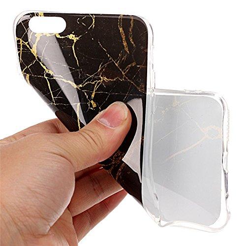 iPhone 6 Plus Hülle ,LANDEE Marmor Serie Flexible TPU Silikon Schutz Handy Hülle Handytasche HandyHülle Etui Schale Case Cover Tasche Schutzhülle für Apple iPhone 6 Plus 5.5 Zoll(6SP-DLS-004) 6SP-DLS-005
