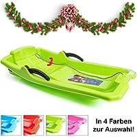 Turbo Slign - Trineo con Frenos ✅⭐⭐⭐ ⭐ ✅ Trineo de plástico para niños/niños pequeños/Adultos, Verde