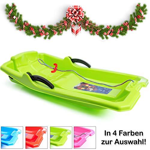 Turbo Slign Schlitten mit Bremsen✅⭐⭐⭐⭐⭐✅ Kunststoff-rodel für Kinder/Kleinkinder/Erwachsene hochwertige Qualität (grün)