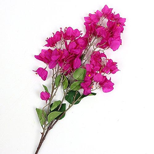 Li HUA Katzen Künstliche Blumen Dekoration Bougainvillea Spectabilis willd Seide Tuch Blumen Sea Bright Ihr Zuhause für Home Decor Tisch Decor DIY Blumenarrangement, Plastik, Style 2-Purple, 86cm -