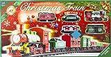 Chemin de fer réglé électriquement Christmas Train - Train à vapeur, 6 voitures et accessoires - pistes pour environ 430 cm - locomotive électrique - 23 parties