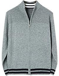HRYfashion Herren stilvoller Pullover mit Reissverschluss