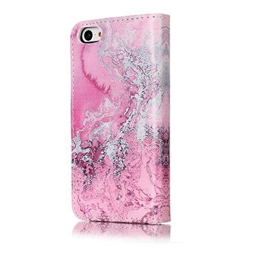 Pour iPhone 5C Coque anti-rayures en caoutchouc de silicone Coque, iPhone 5C parfaitement Soft Gel Bumper Coque, CE Luxe élégant [dégradé Couleur Starlight] Rainbow Bling Paillettes léger Jelly Coqu M- Marble Series 8