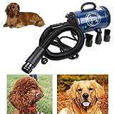 Séchoir de toilettage pour chien pas cher sèche-cheveux pour animaux de compagnie ventilateur 220v / 110v 2400w Eu Plug Rose Bleu Couleur BS-2400,Blue