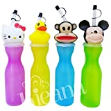 #9: Water bottle for kids stylish animal sipper premium quality cute cap bottles for school going kid perfect return gift birthday gifts online pack of 1 by Kieana.