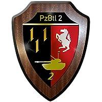 Stemma scudo/Banda Stagnata–pzbtl 2Panzer bataillon 2unità Forze armate militare stemma distintivo Emblem # 13619