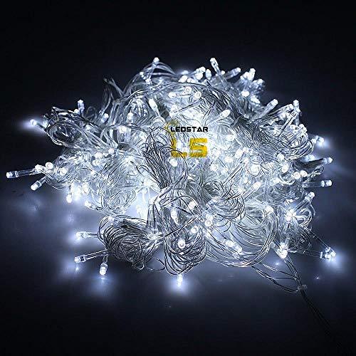XIAOHA Lichterkette 3 Mt X 3 Mt Weihnachtsgirlande 300 Led Vorhang Eiszapfen String Licht Fairy Light Outdoor Für Hauptbeleuchtung Dekoration Hochzeit Kette Lampen - Mini-eiszapfen-lichter