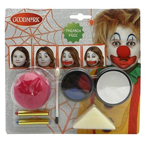 Sache 2 Kostüme Von (Goodmark Schmink Set Gruseliger Clown, 2er Pack (2 x 10)
