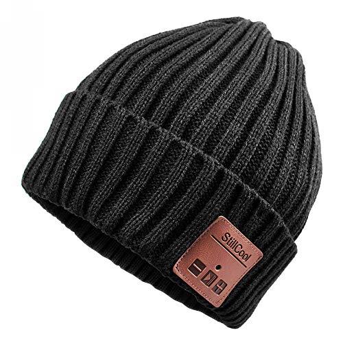 StillCool Unisex Gorro Bluetooth Auriculares, Bluetooth Beanie Hat con Altavoz Estéreo Auriculares y Micrófono para Hombres y Mujeres,Deportes al Aire Libre (Black)