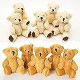 London Teddy Bears 6 x Marrone e 6 x Bianco - Piccoli orsacchiotti - Carino e Morbido Peluche - Regalo