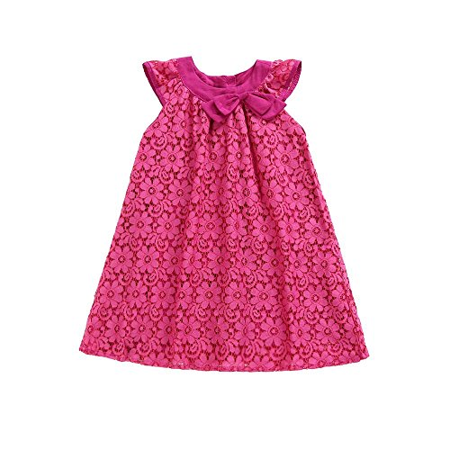 Oyedens Kinder Kleider für Mädchen Festlich, Flamenco Kleid Mädchen FäDeln Leer Spitzen Bogen Prinzessin Kleid Sommerkleid Mädchen 164 -