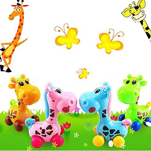 VANKER 1Pcs Los bebés Cadena Enrollada Jirafa Juguetes Clásicos -- Color al azar