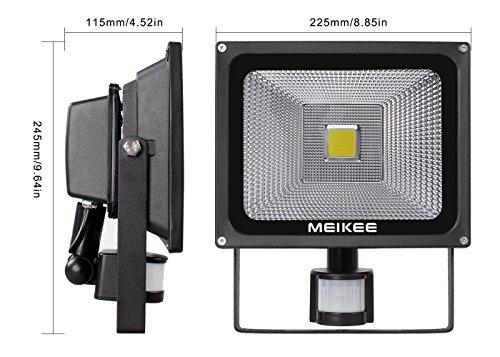 De Meikee Lampe Ip65 2250lm Led 30w Détecteur Mouvement Projecteur kZOXTiPu