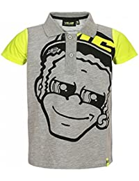 Valentino Rossi VR46 Moto GP The Doctor Niños Gris Polo Camisa Oficial 2018