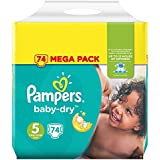 Pampers - Baby Dry - Couches Taille5 (11-23kg/Junior) - Mega Pack (x74couches)