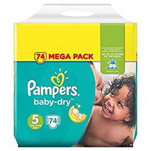pampers baby dry couches taille 5 11 23 kg junior. Black Bedroom Furniture Sets. Home Design Ideas