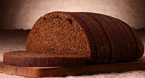 Nur 0,64g/100g Kohlenhydrate! Fitter ins Leben Low Carb Dunkles Körnerbrot - Eiweißbrot Brotbackmischung - perfekt für die LowCarb-Diät - vegan - Eiweiß 33g/100g