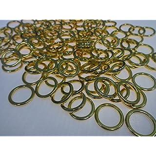 Amazing Drapery Hardware Heavy Duty Sew On Rings, Brass, 1/2 inch Diameter : 50 rings