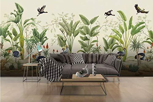definierte Wandbilder Tropische Pflanzen Und Blumen Seide Materialien Heimtextilien 210Cm(H)×280Cm(W) ()