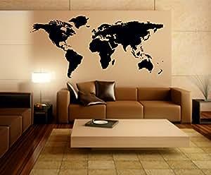 Stickerkoenig Sticker mural représentant la carte du monde World Map II , 220 x 114 cm