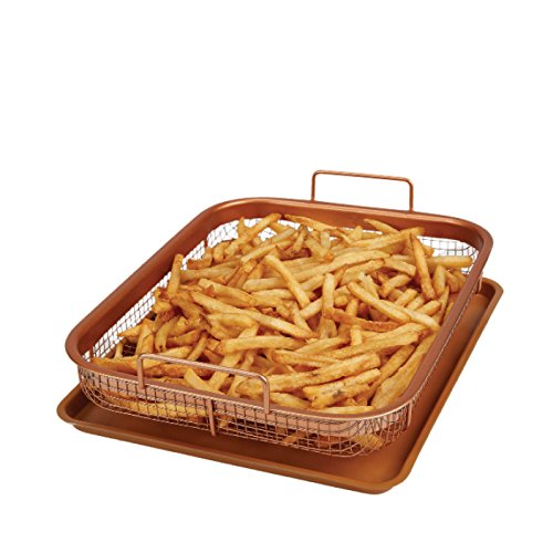 Official Copper Crisper, by Copper Chef, Non-Stick Oven Baking Tray