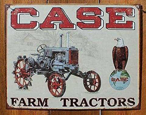 Tracteur Case CC haute apurement Plaque en m#233; tal 32