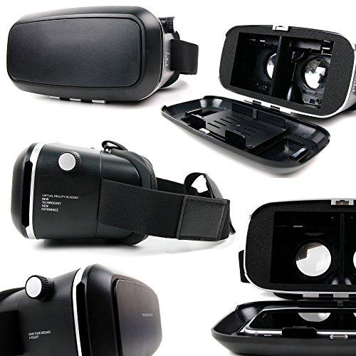 Casque de réalité virtuelle pour Samsung Galaxy S7 | S7 Edge | S6 | S6 Edge | A9 | J3 | J5 | J7 | C5 et C7 Smartphones - Plastique rigide - DURAGADGET