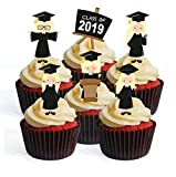 Graduation Girl #2 Toppers à cupcakes édible – Stand Up Wafer Decorations, Packung mit 24