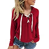 UOMOGO Cardigan Donna Felpe Magliette Maglie Camicetta T-shirt Manica lunga Crop Top V-Neck