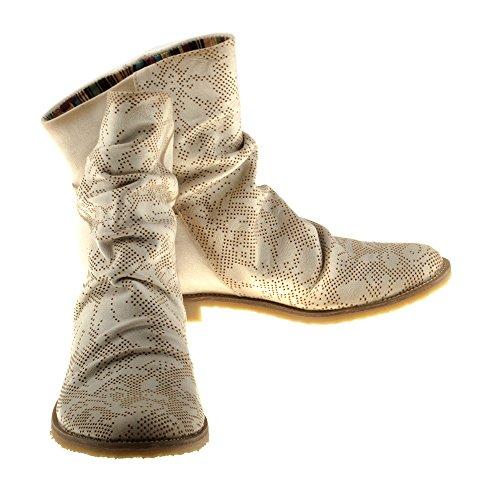 Chaussures Felmini Clash Cuir Femme Avec Véritable Bottes Casual En wTBFqtx1