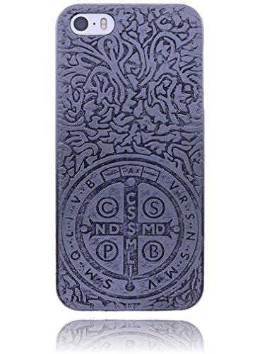 Apple iPhone 6 / 6S Hülle Burkley Silikon Schutzhülle | Mit Motiv | Handyhülle | Cover | Case | Tasche | Hülle mit Motiv Mandala Medallion Vintage CSPB Iron
