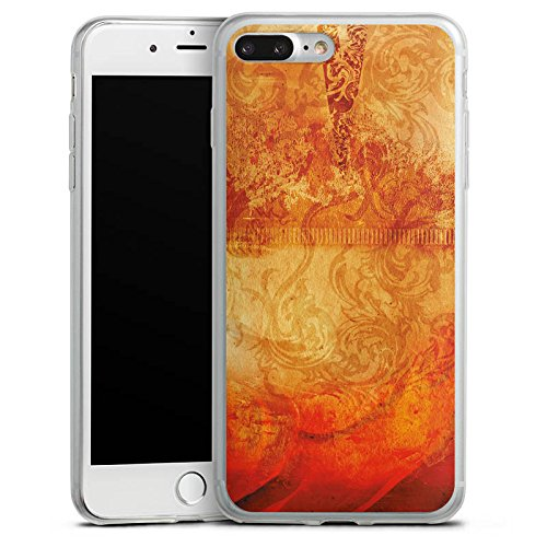 Apple iPhone X Slim Case Silikon Hülle Schutzhülle Feuer Muster Orange Silikon Slim Case transparent