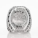 S-P Collezione di Fan di Sport Champion Rings Fans Men's Memorial Rings Collezioni di Fascia Alta Fans Alloy Rings Accessori da Uomo Accessori Vintage, Argento, 9