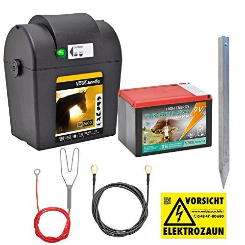 """Batteriegerät 9V """"BV 2600"""", inkl. Batterie - sofort Einsatzbereit! 10.500 Volt, 0,32 Joule, für bis zu 5km Zaunlänge - Weidezaungerät"""