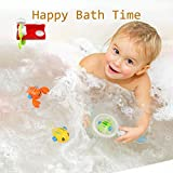 HAOXIN Bath Toys for Toddles, Fishing Floating Squirts Water and Beach Play Set with Sea Animals Safe and Fun Preschool Education Toys for Kids (6-Pack)
